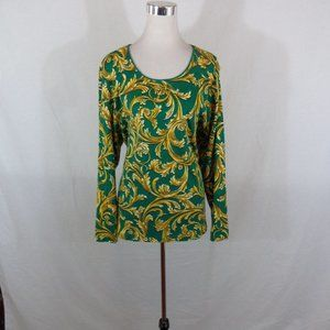 KAREN SCOTT GREEN GOLD WOMEN TUNIC 3X
